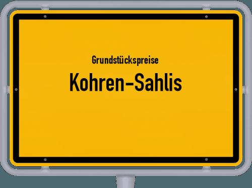 Grundstückspreise Kohren-Sahlis 2019