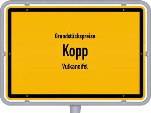 Grundstückspreise Kopp (Vulkaneifel) 2019