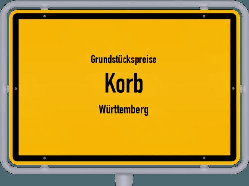 Grundstückspreise Korb (Württemberg) 2021