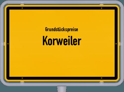 Grundstückspreise Korweiler 2019