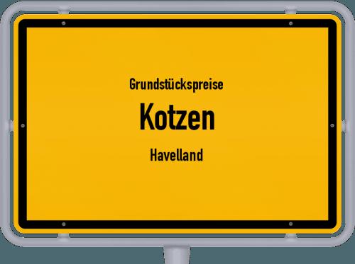 Grundstückspreise Kotzen (Havelland) 2021