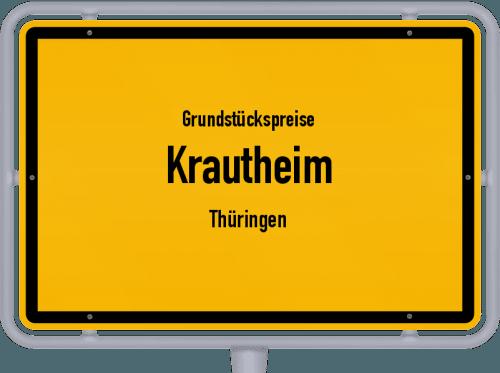 Grundstückspreise Krautheim (Thüringen) 2019