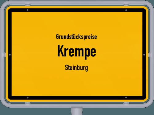 Grundstückspreise Krempe (Steinburg) 2021