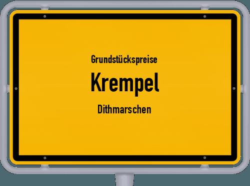Grundstückspreise Krempel (Dithmarschen) 2021