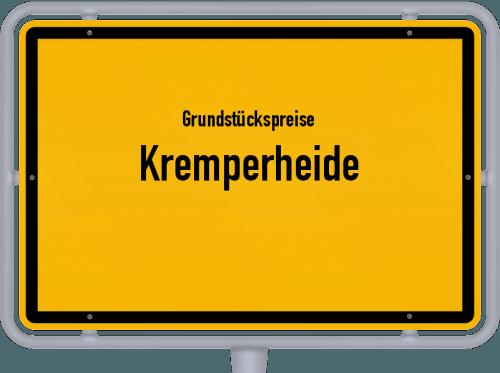 Grundstückspreise Kremperheide 2021