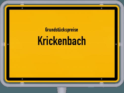 Grundstückspreise Krickenbach 2019