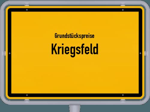 Grundstückspreise Kriegsfeld 2019