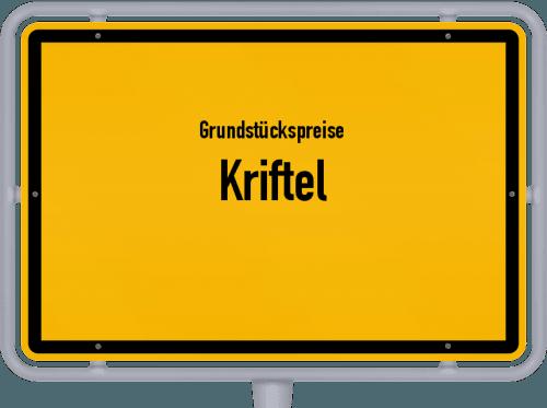 Grundstückspreise Kriftel 2020