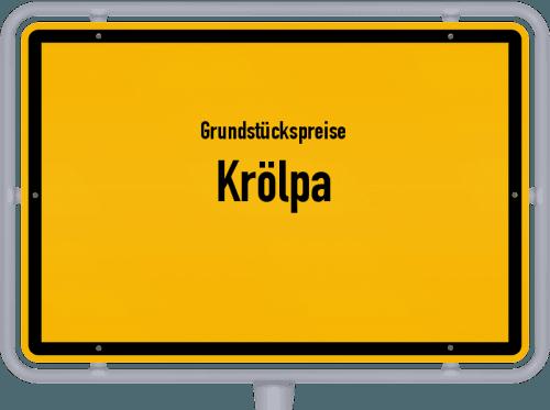 Grundstückspreise Krölpa 2019