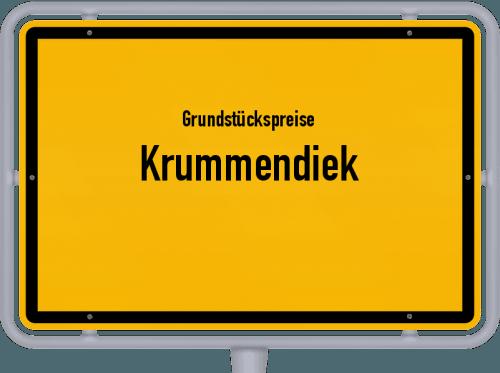 Grundstückspreise Krummendiek 2021