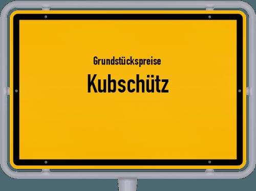 Grundstückspreise Kubschütz 2019