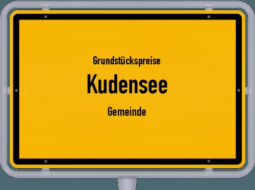 Grundstückspreise Kudensee (Gemeinde) 2021