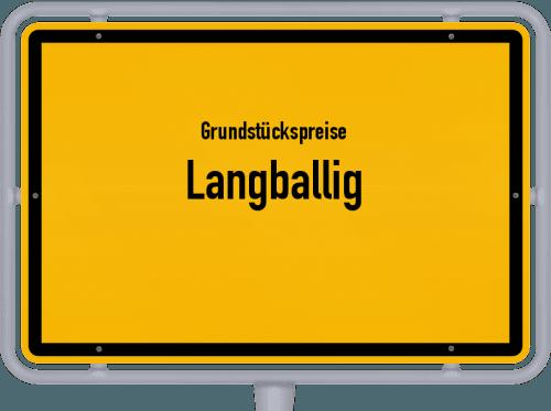 Grundstückspreise Langballig 2021