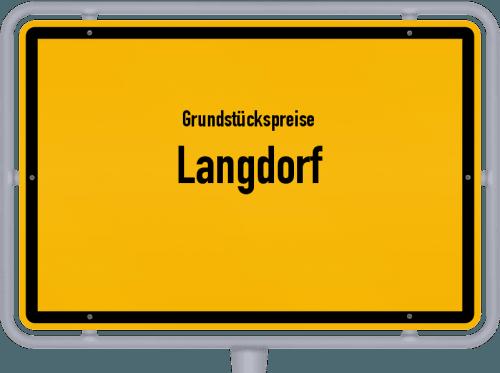 Grundstückspreise Langdorf 2019