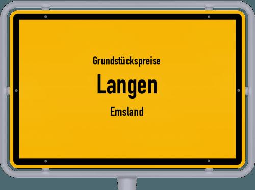 Grundstückspreise Langen (Emsland) 2021