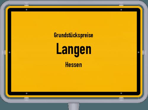Grundstückspreise Langen (Hessen) 2020