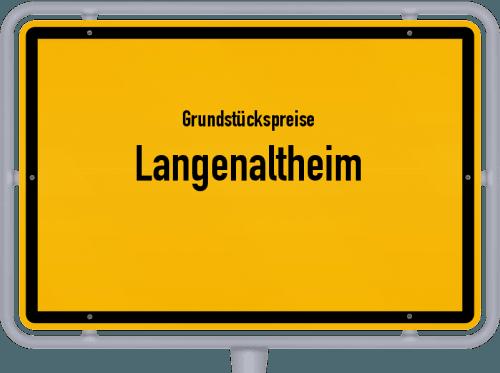 Grundstückspreise Langenaltheim 2019