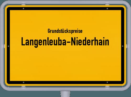 Grundstückspreise Langenleuba-Niederhain 2019