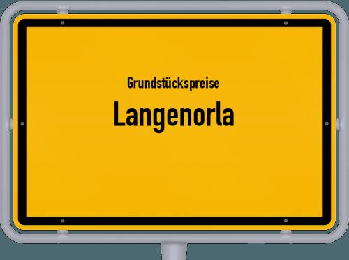 Grundstückspreise Langenorla 2019