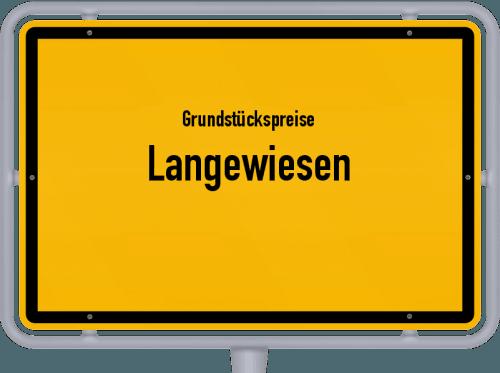 Grundstückspreise Langewiesen 2019