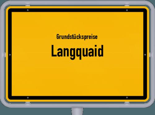 Grundstückspreise Langquaid 2019