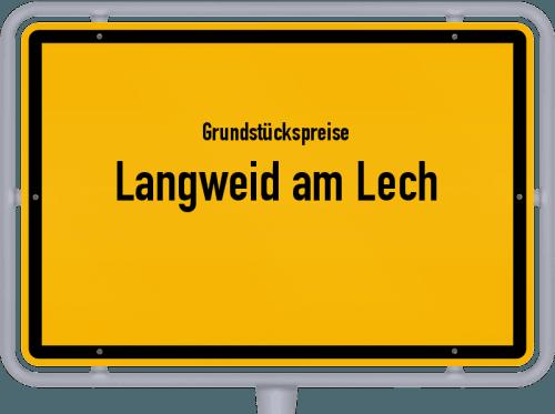 Grundstückspreise Langweid am Lech 2019
