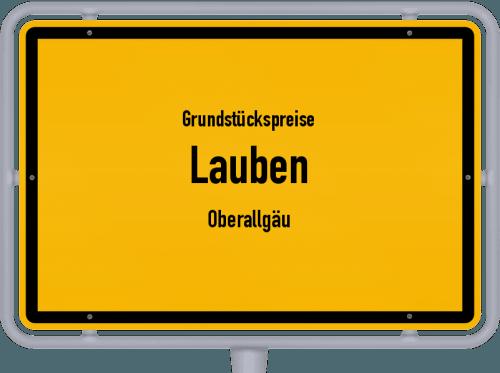 Grundstückspreise Lauben (Oberallgäu) 2019
