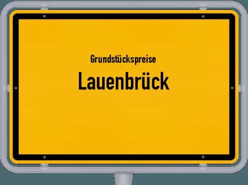 Grundstückspreise Lauenbrück 2021