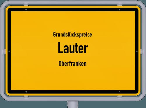Grundstückspreise Lauter (Oberfranken) 2019