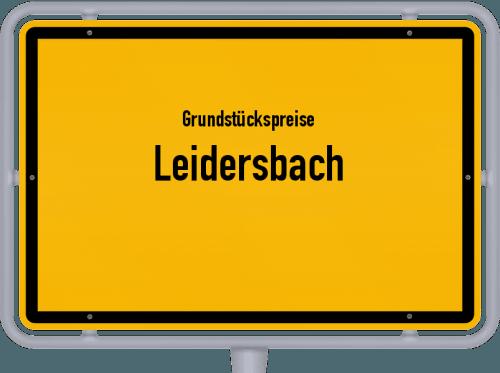 Grundstückspreise Leidersbach 2019
