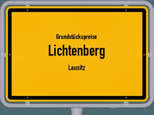 Grundstückspreise Lichtenberg (Lausitz) 2019