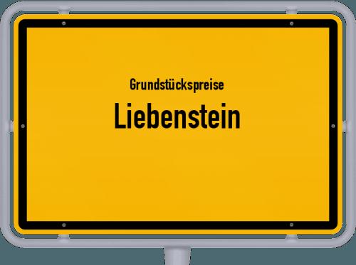 Grundstückspreise Liebenstein 2019
