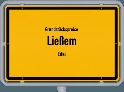Grundstückspreise Ließem (Eifel) 2019