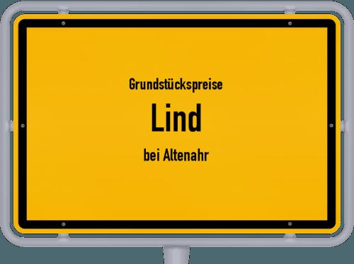 Grundstückspreise Lind (bei Altenahr) 2019
