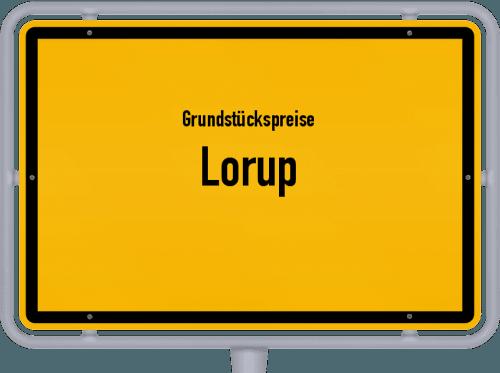 Grundstückspreise Lorup 2021