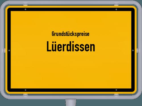 Grundstückspreise Lüerdissen 2021