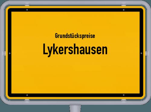 Grundstückspreise Lykershausen 2019