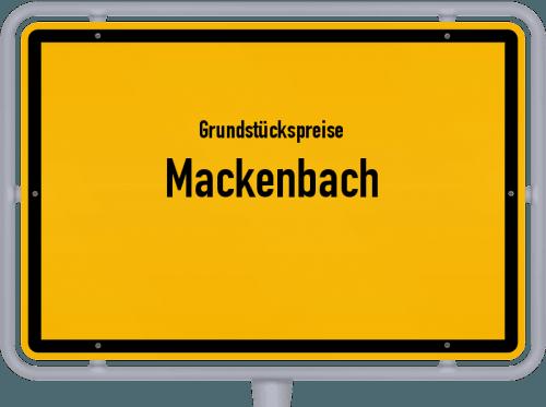 Grundstückspreise Mackenbach 2019