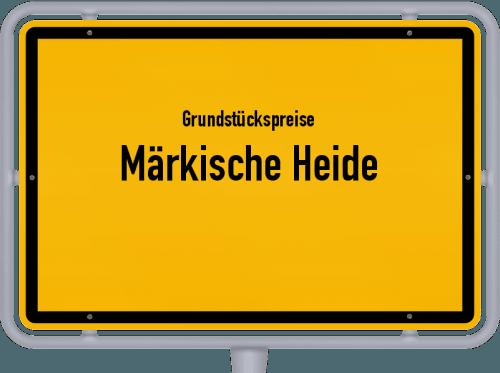 Grundstückspreise Märkische Heide 2021
