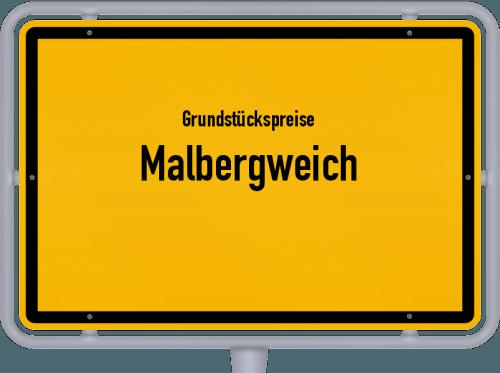 Grundstückspreise Malbergweich 2019