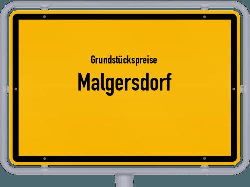 Grundstückspreise Malgersdorf 2019