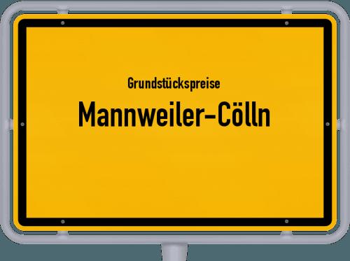 Grundstückspreise Mannweiler-Cölln 2019