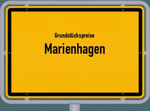 Grundstückspreise Marienhagen 2021
