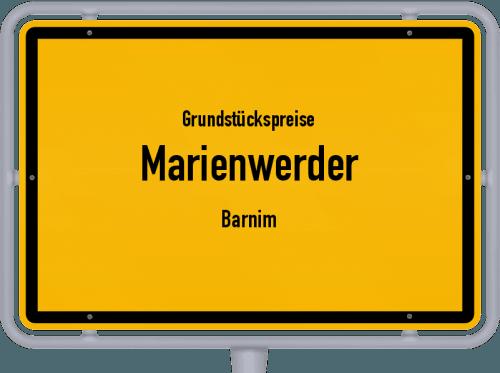 Grundstückspreise Marienwerder (Barnim) 2021