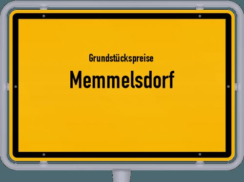 Grundstückspreise Memmelsdorf 2021