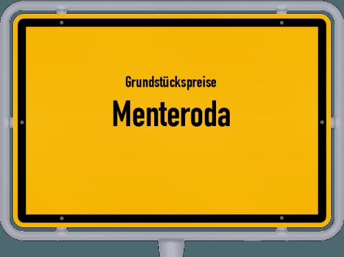 Grundstückspreise Menteroda 2019