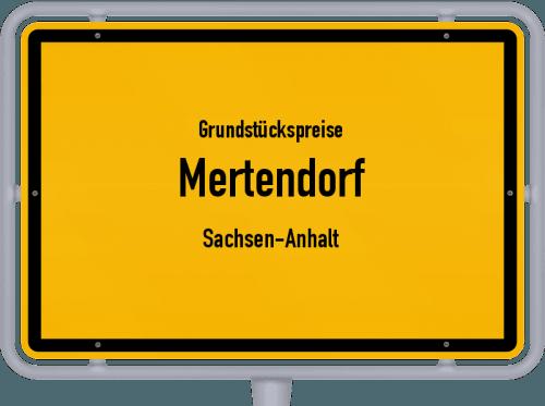 Grundstückspreise Mertendorf (Sachsen-Anhalt) 2021