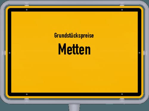 Grundstückspreise Metten 2019