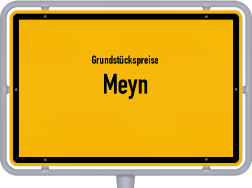 Grundstückspreise Meyn 2021