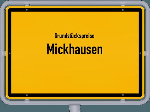 Grundstückspreise Mickhausen 2021